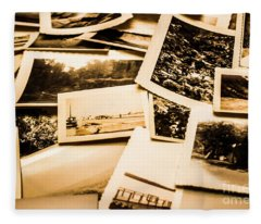 Lowdown On A Vintage Photo Collections Fleece Blanket