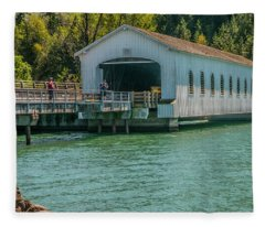Lowell Covered Bridge Fleece Blanket