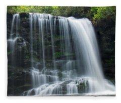 Lower Bearwallow Falls Fleece Blanket
