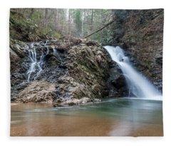 Lower Brasstown Falls Fleece Blanket