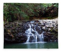 Lower Dual Falls Fleece Blanket