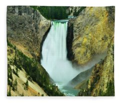 Lower Falls No Border Or Caption Fleece Blanket