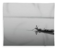 Fleece Blanket featuring the photograph Lower Ganges - Misty Morinings by Chris Cousins