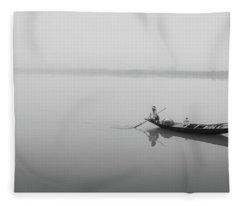 Lower Ganges - Misty Morinings Fleece Blanket