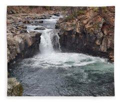Lower Mccloud Falls Fleece Blanket