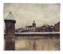 Lucerna, Kapellbrucke Fleece Blanket