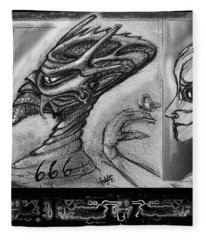 Lucifer  Sketch  Fleece Blanket