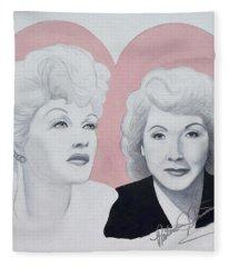 Lucille And Vivian Fleece Blanket