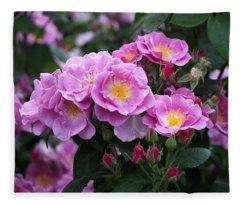 Lucky Floribunda Roses Fleece Blanket
