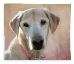 Lucy In Pink Fleece Blanket