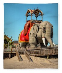 Lucy On The Beach Fleece Blanket