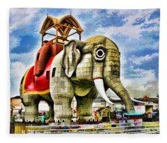 Lucy The Elephant 2 Fleece Blanket