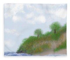 Ludington Dunes Fleece Blanket