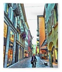 Lugano Switzerland Fleece Blanket