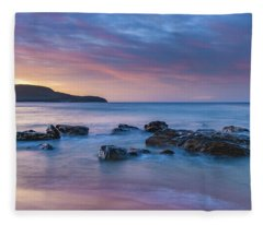 Luminescent Sunrise Seascape Fleece Blanket
