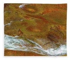 Luminous Oak Creek Abstract Fleece Blanket