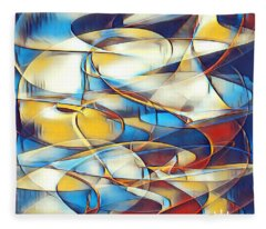 Luminous Silk Art  Fleece Blanket
