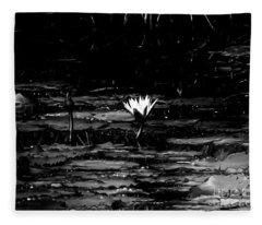 Luminous Water Lily  Fleece Blanket