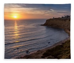 Lunada Bay Sunset Fleece Blanket