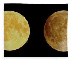 Lunar Eclipse Progression Fleece Blanket