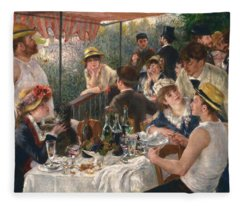 Luncheon Of The Boating Party By Renoir Fleece Blanket
