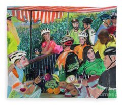 Pastel-luncheon Of The Cycling Party Fleece Blanket