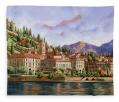 lungolago di Bellagio Fleece Blanket
