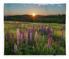 Lupine Sunrise Fleece Blanket