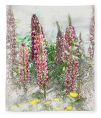 Lupine Fleece Blanket
