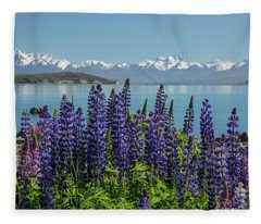 Lupines At Lake Tekapo Fleece Blanket