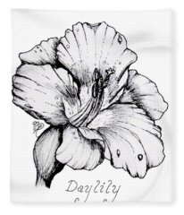 Luscious Daylily  Fleece Blanket