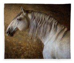 Lusitano Portrait Fleece Blanket