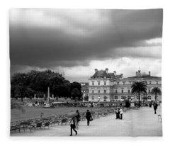 Luxembourg Gardens 2bw Fleece Blanket