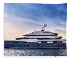 Luxury Yacht Fleece Blanket