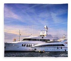 Luxury Yachts Fleece Blanket