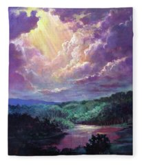 Luz Del Cielo  Light From Heaven Fleece Blanket