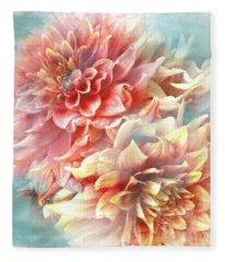Lynia Dahlia Fleece Blanket