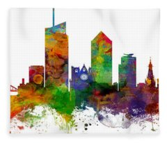 Lyon France Skyline Panoramic Custom Fleece Blanket