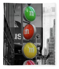 M And Ms In New York City Fleece Blanket