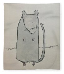 M Is For Mouse Fleece Blanket