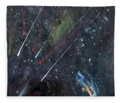 Fleece Blanket featuring the painting M51 by Michael Lucarelli