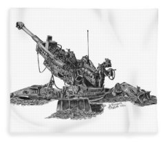M777a1 Howitzer Fleece Blanket