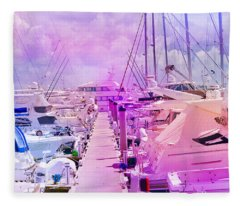 Marina In The Morning Glow Fleece Blanket