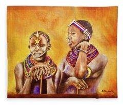 Maasai Legends Fleece Blanket