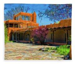 Mabel's Courtyard As Oil Fleece Blanket