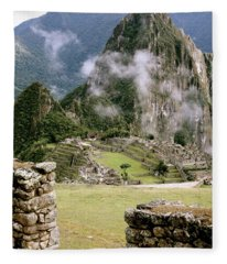 Machu Picchu In The Morning Light Fleece Blanket