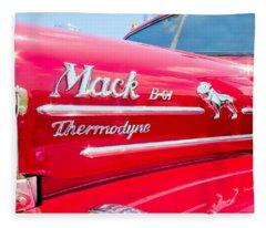 Mack Truck Hood Badges Fleece Blanket