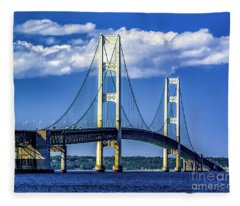 Mackinac Bridge Fleece Blanket