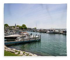 Mackinac Island Marina Fleece Blanket
