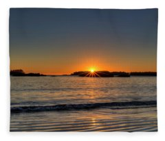 Mackinsie Beach Sun Burst Fleece Blanket